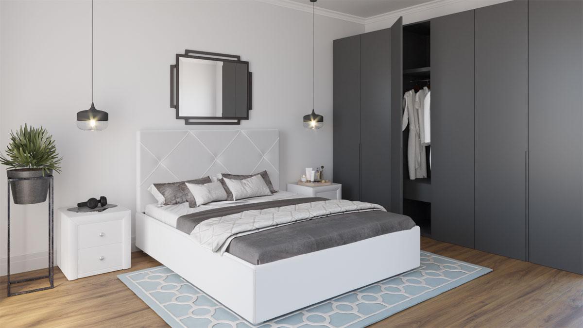 Кровать Альменно Dimax белая