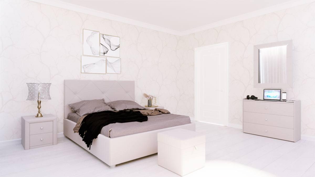 Кровать Альменно Dimax бежевая